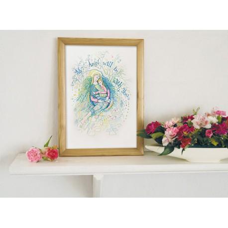 METRYCZKA plakat z Aniołem Stróżem A4
