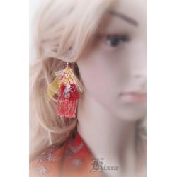 """Kolczyki """"motylki"""" czerwone"""
