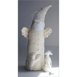 """Anioł i dziecko dekoracja typu """"art doll"""""""