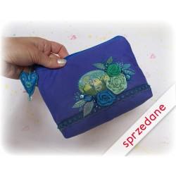 Kosmetyczka - minikopertówka z miniaturką, niebieska