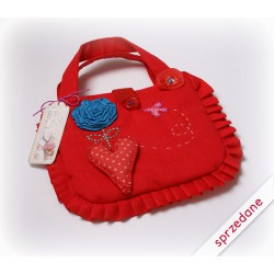 Torebeczka czerwona dla dziewczynki