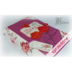 """Notes haftowany """"Angielskie róże"""""""