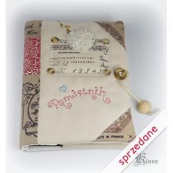 Pamiętnik haftowany rustykalny