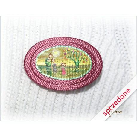 Broszka miniaturka różowa
